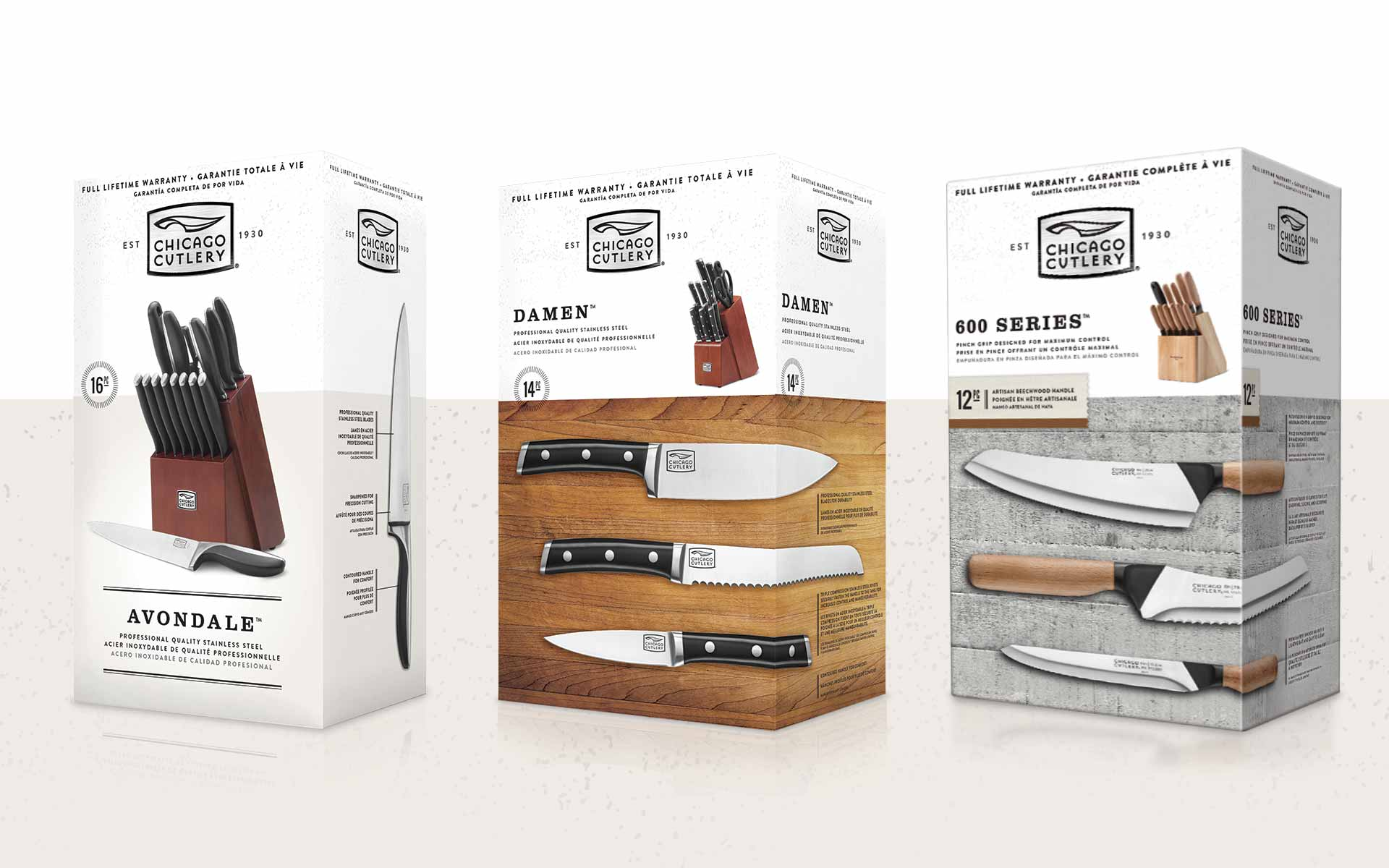 Chicago Cutlery - Brand Packaging Design