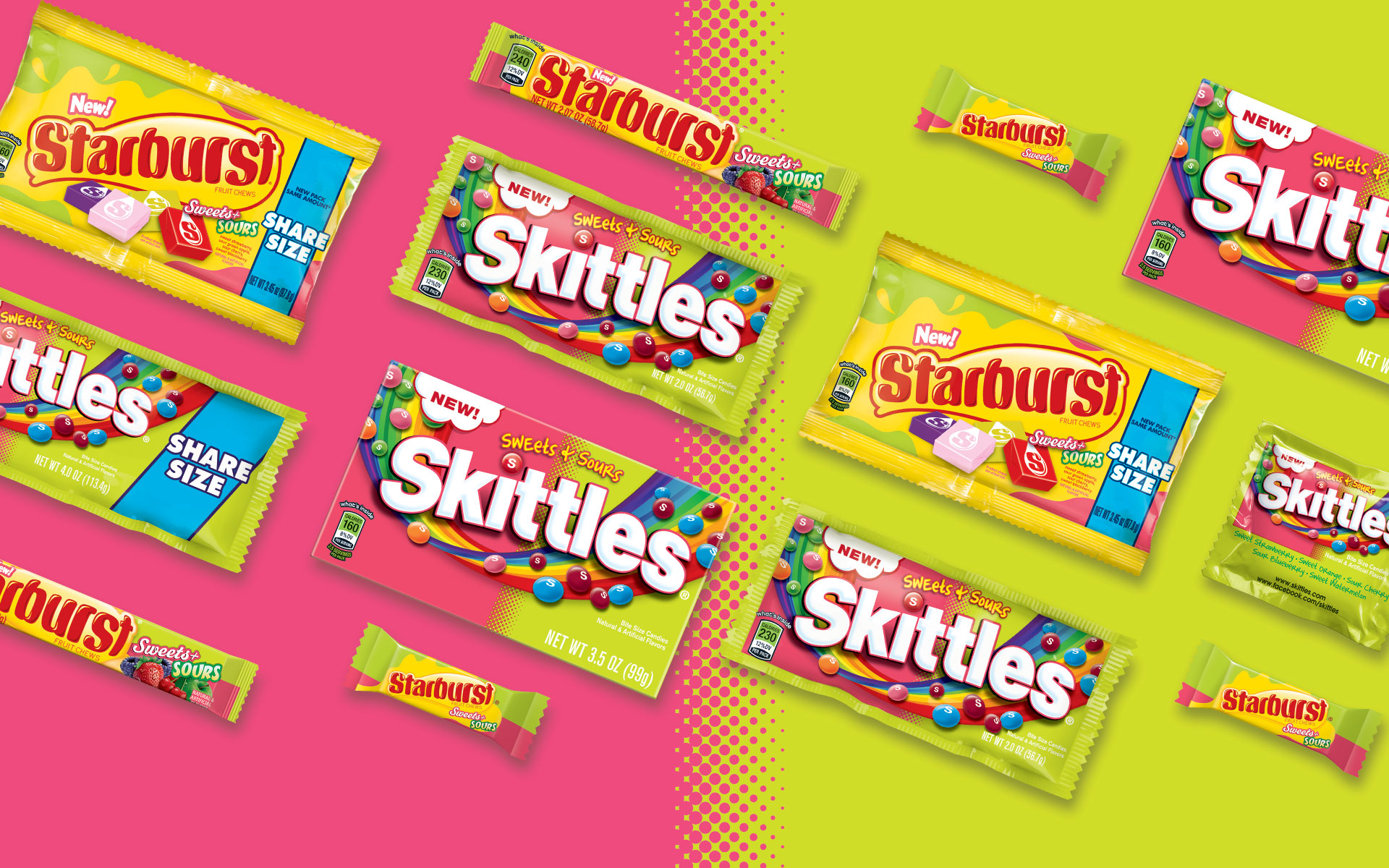 Wrigley Sweets and Sours - Packaging Design
