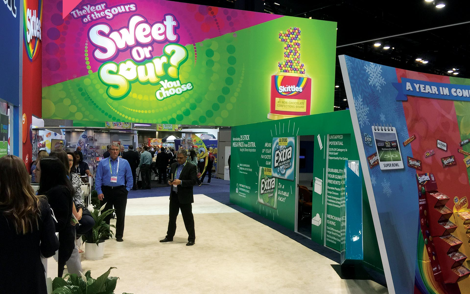 Wrigley Sweets and Sours - Tradeshow Booths