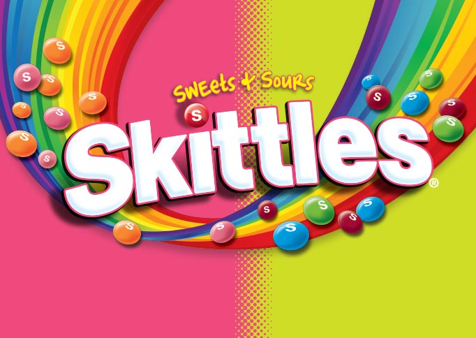 Wrigley Skittles Sweets and Sours - packaging design