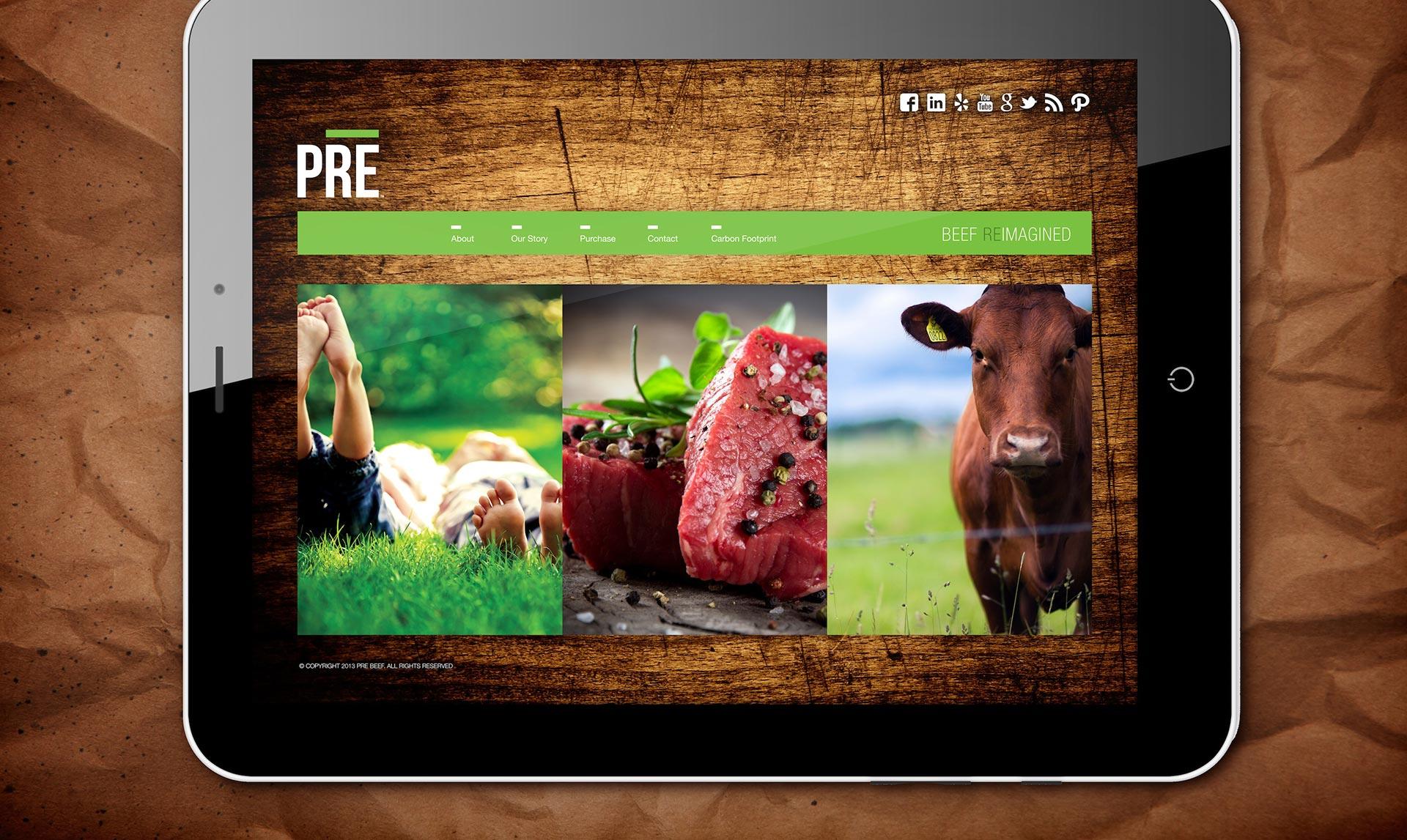 PRE - website design