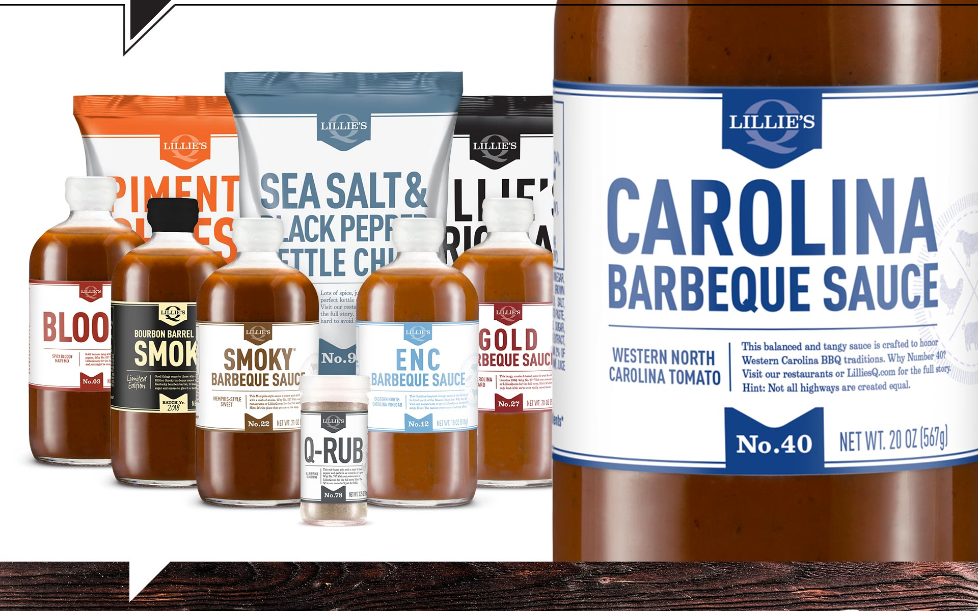 Lillie's Q - Packaging Designs