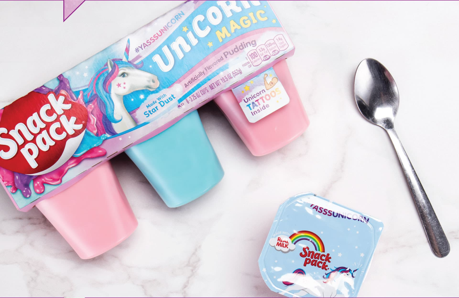 Snack Pack Unicorn Magic - In Use
