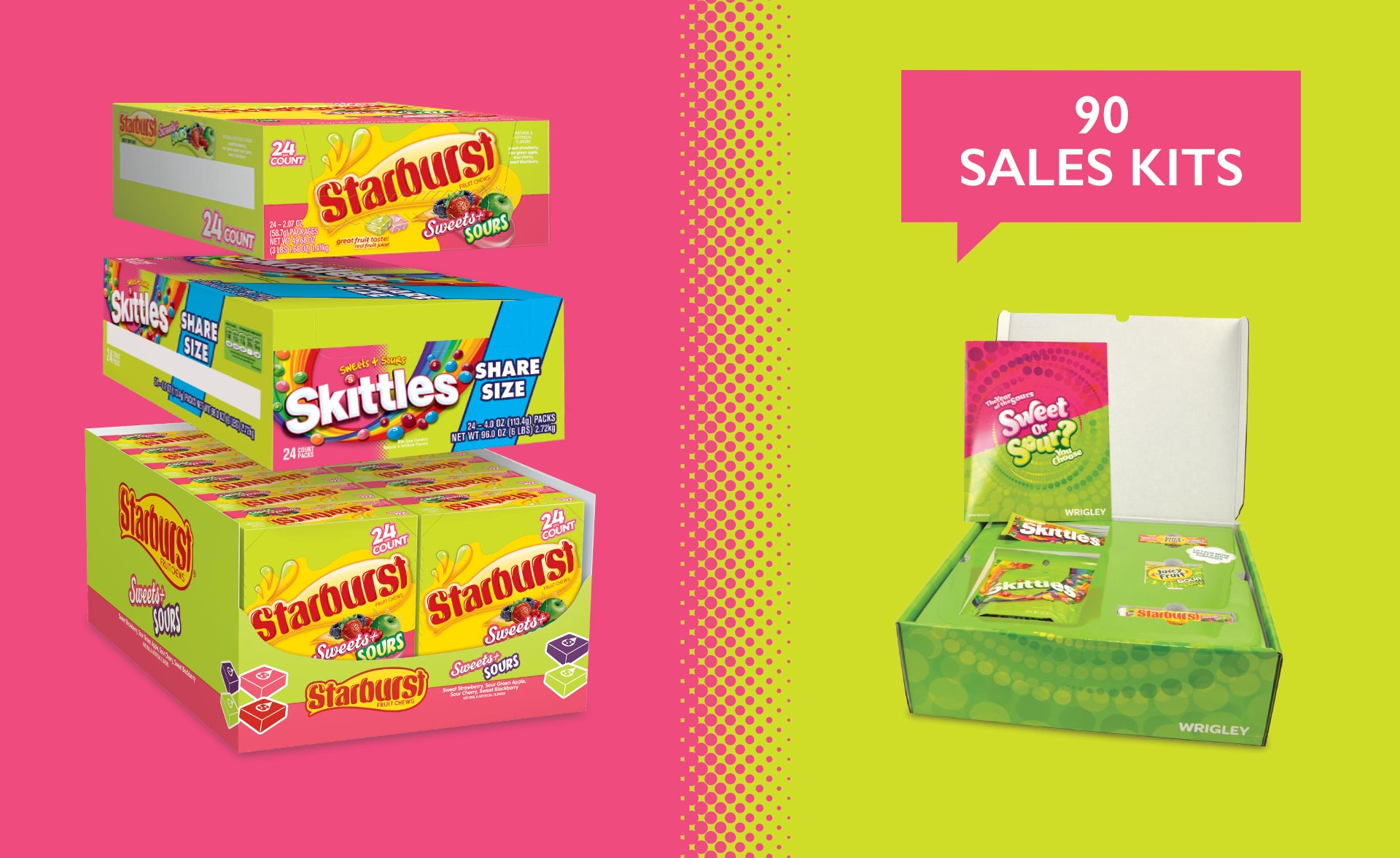 Wrigley Sweets and Sours - Sales Kits