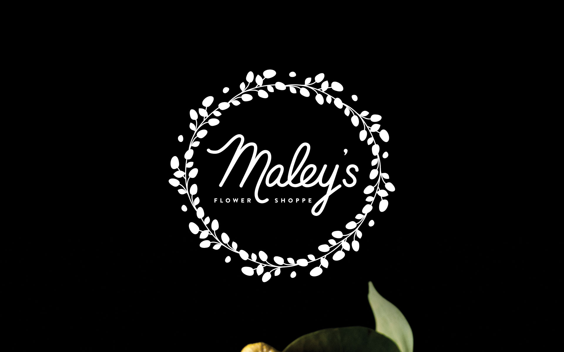 Maley's Flower Shoppe brand identity