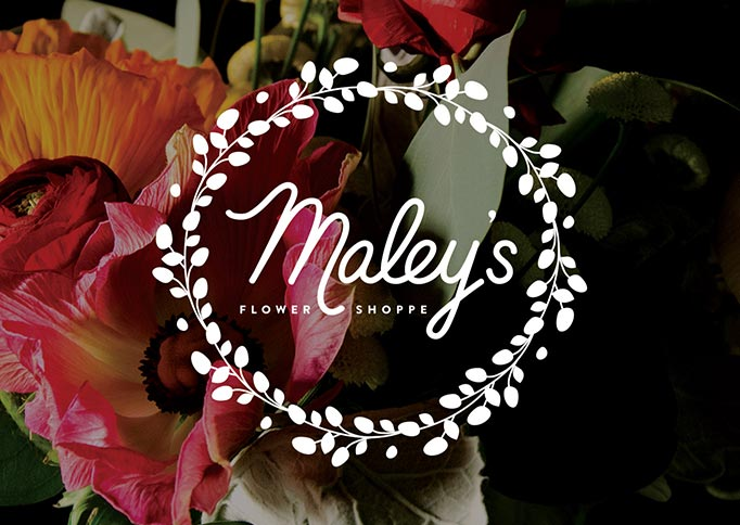 Maleys Flower Shoppe - brand identity