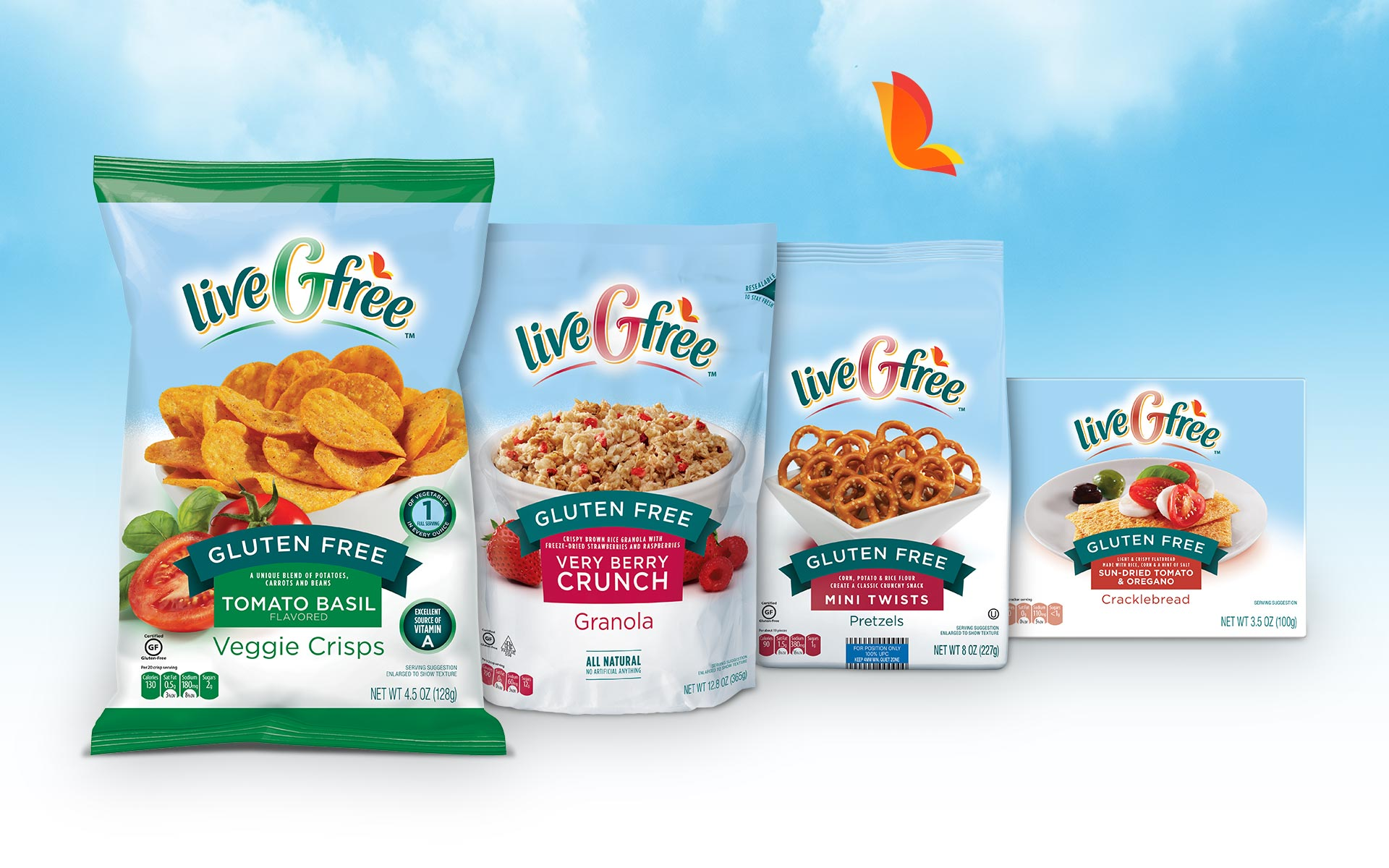 Aldi LiveGfree - Brand Packaging Design