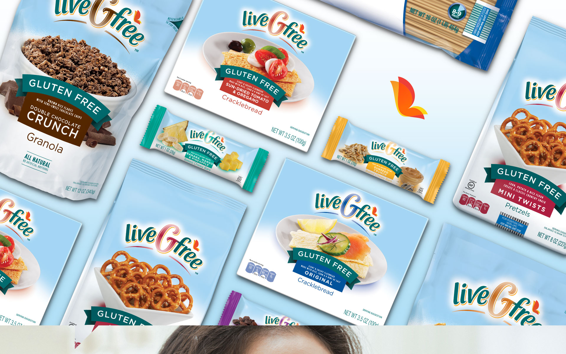 Aldi LiveGfree - Packaging Design range