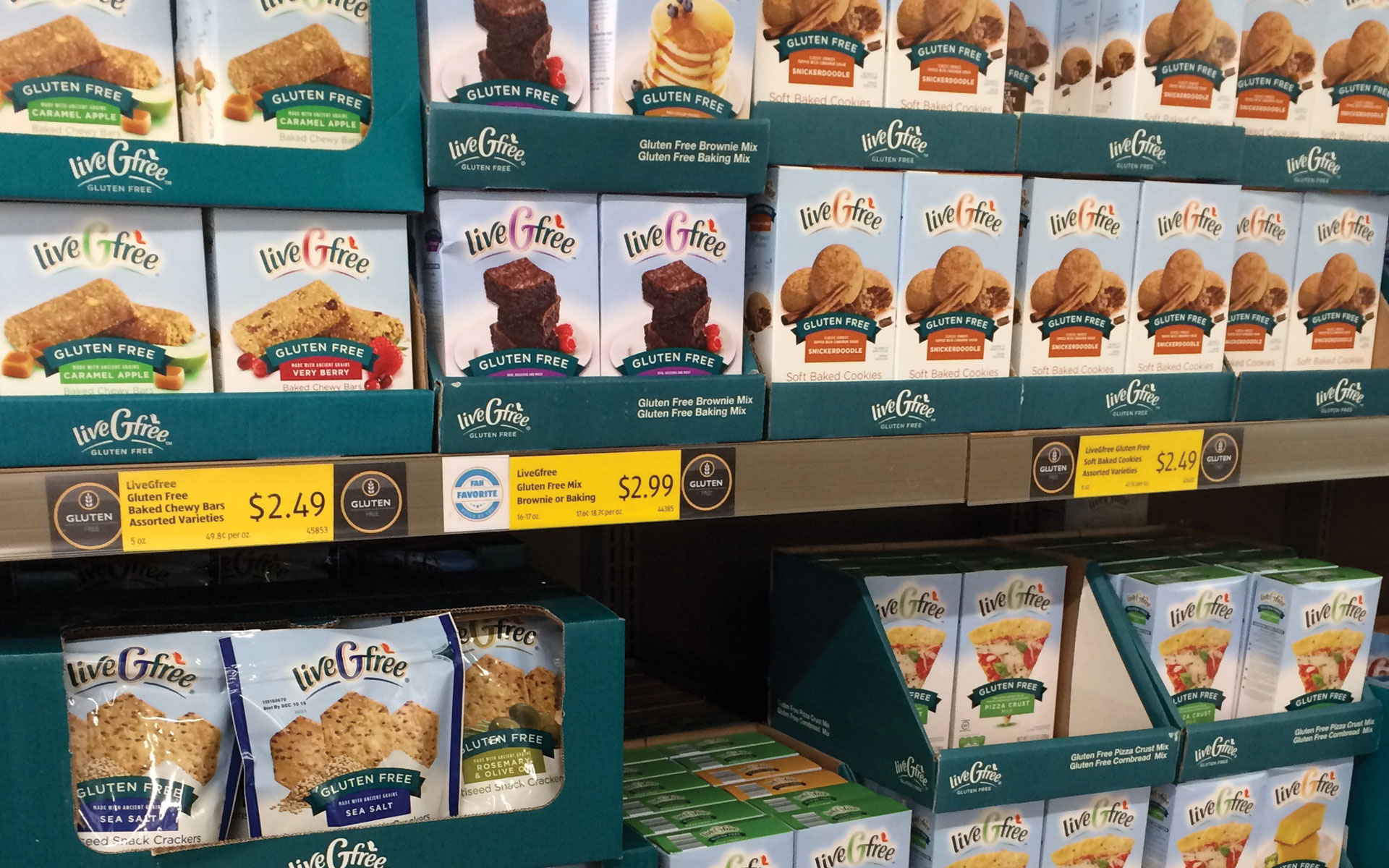 Aldi LiveGfree - Shelf Set
