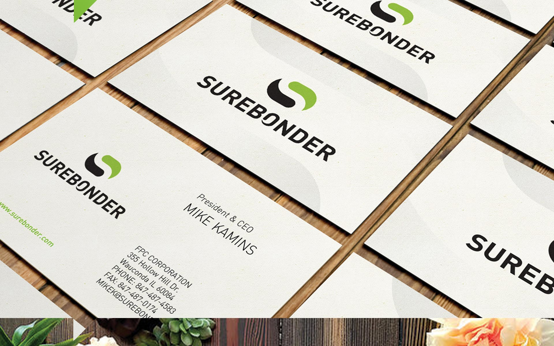 Surebonder - Business Cards Collateral