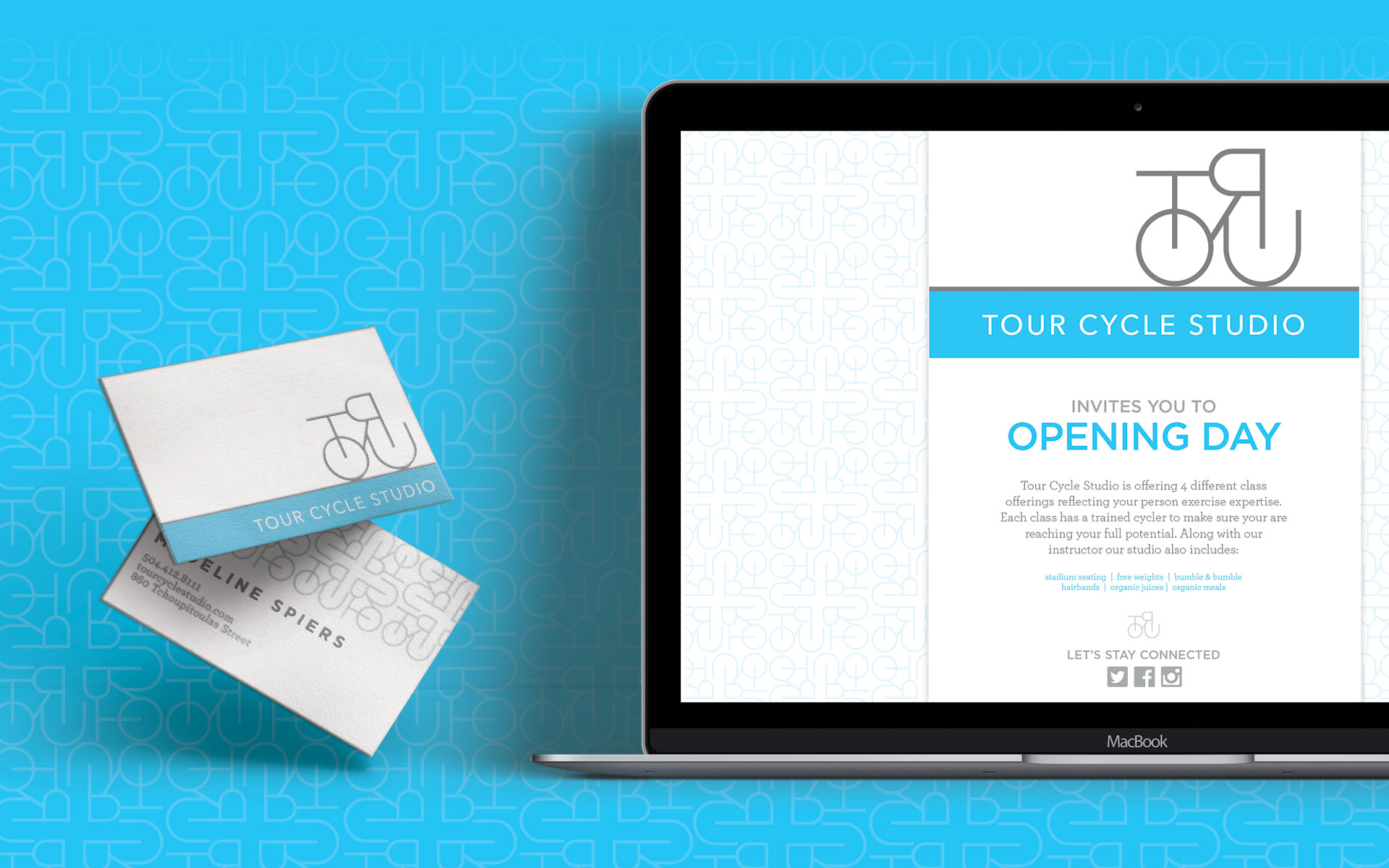 Tour Cycle Studios - Marketing Collateral Website Business Cards