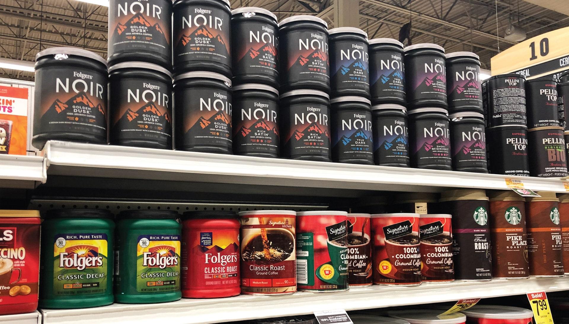 Folgers Noir - In-Store Packaging