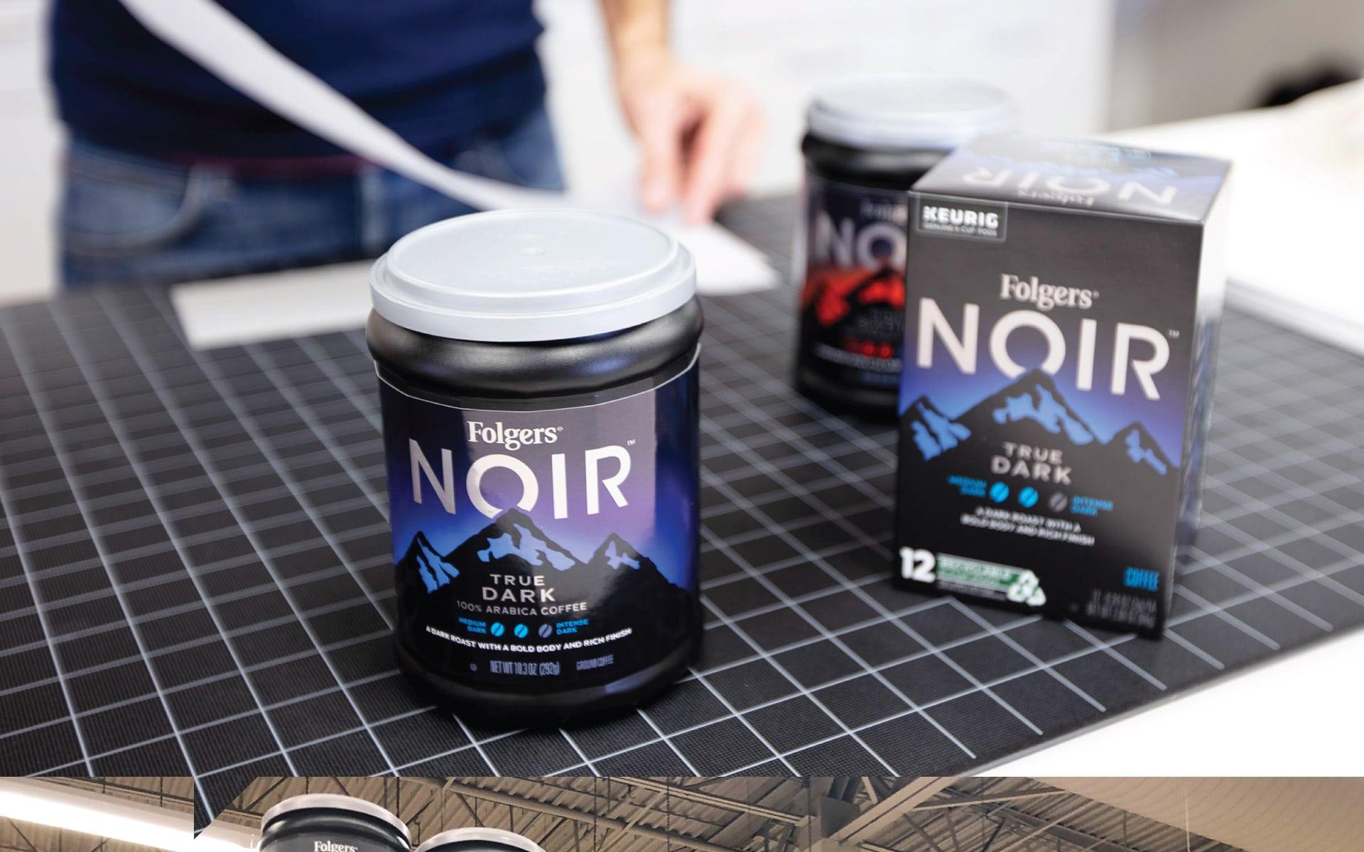 Folgers Noir - Packaging Mock-ups