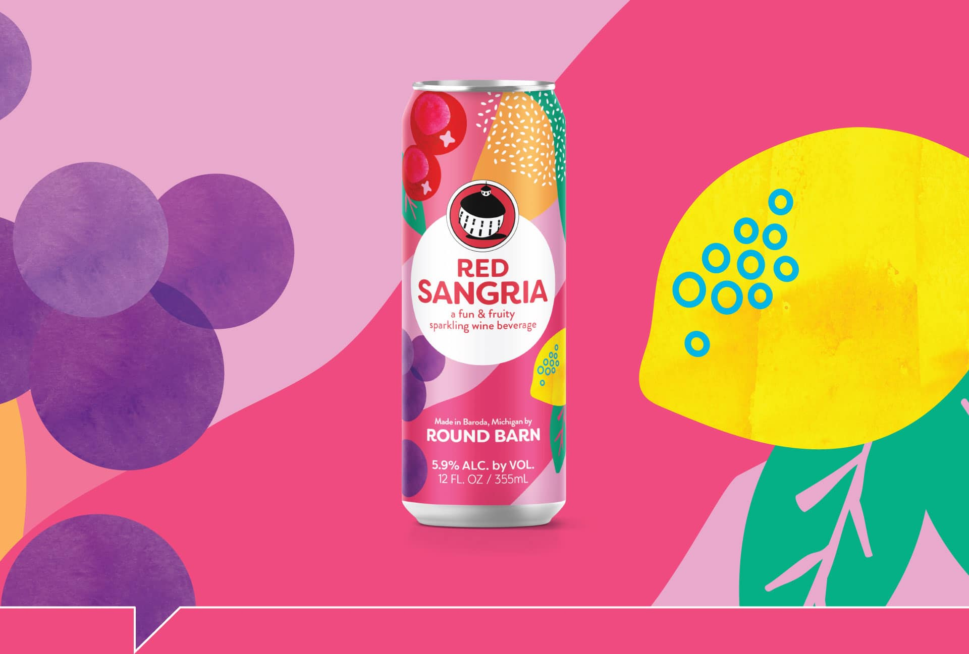 Round Barn Sangria - Packaging Design